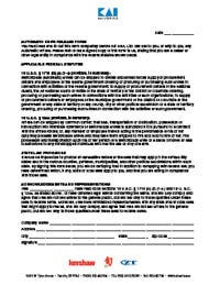 Automatic Knife Release Form